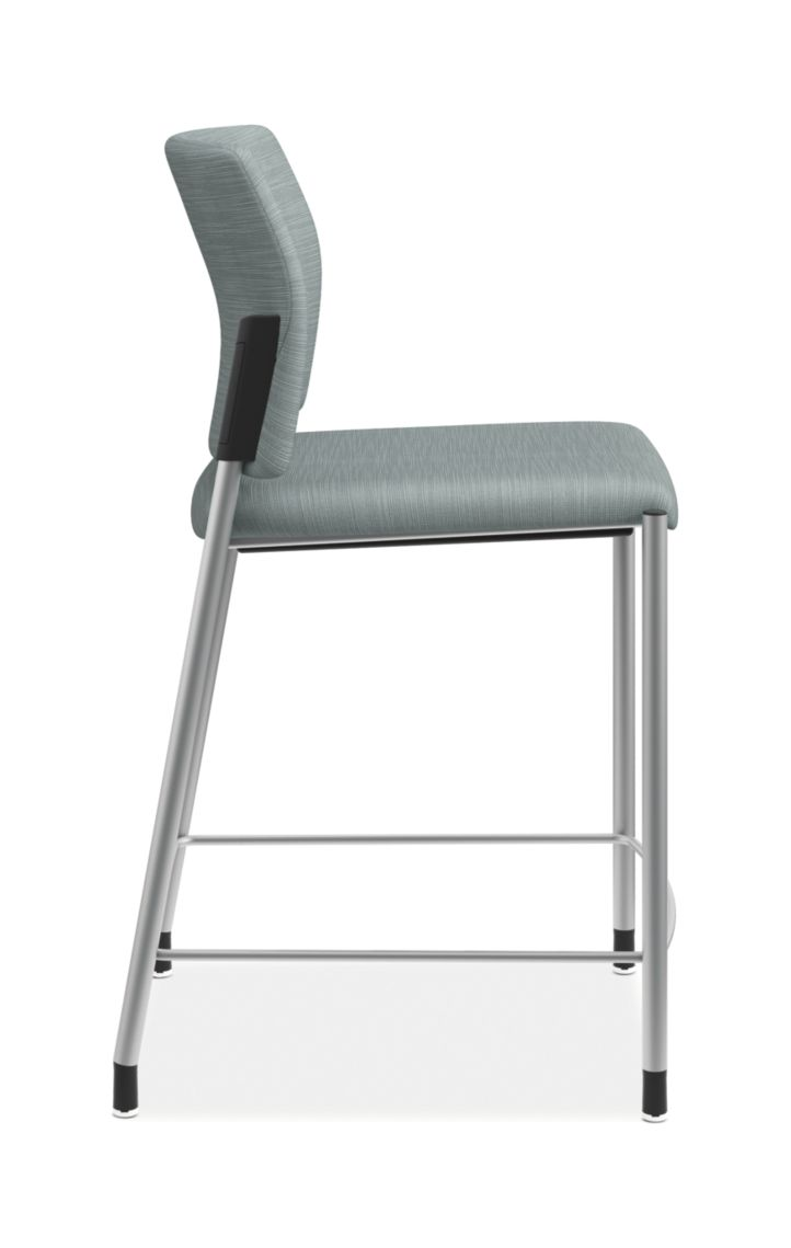 HON Accomodate Counter Height Stool Compass Tide Armless Side View HSCS1.N.E.COMP96.P6N