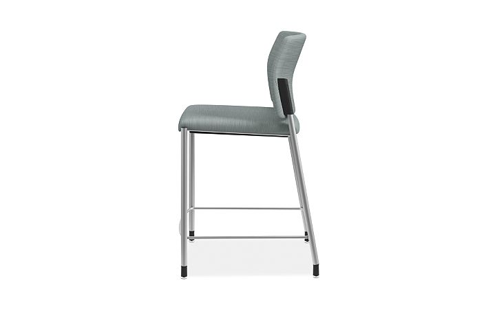 HON Accomodate Counter Height Stool Compass Tide Fixed Armless Side View HSCS1.N.E.COMP96.P6N