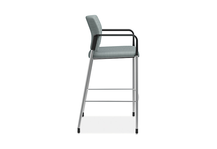 HON Accommodate Cafe Stool Compass Tide Fixed Arms Side View HSCS2.F.E.COMP96.P6N