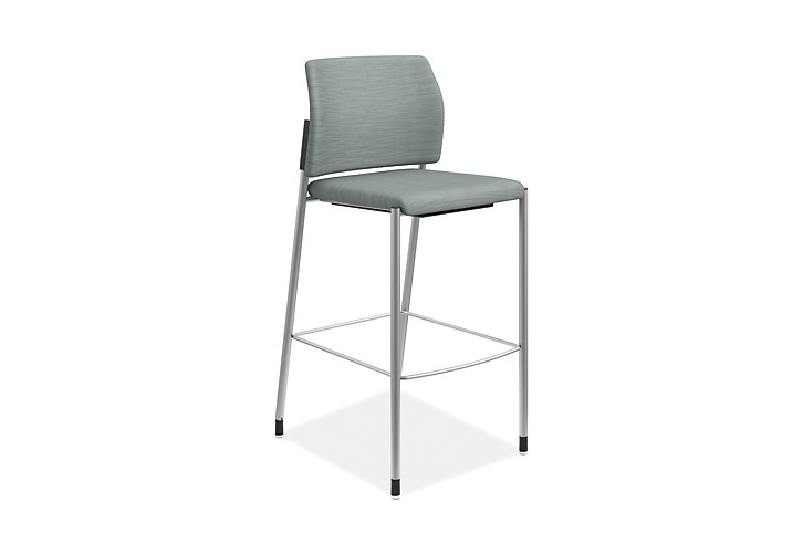 HON Accommodate Cafe Stool Compass Tide Armless Front Side View HSCS2.F.E.COMP96.P6N