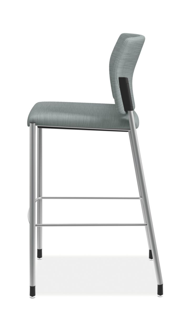 HON Accommodate Cafe Stool Compass Tide Armless Side View HSCS2.F.E.COMP96.P6N