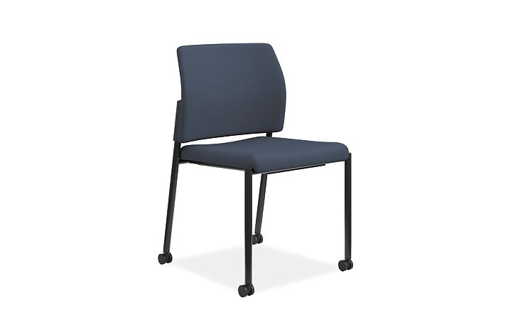 HON Accomodate Guest Chair Centurion Cerulean Armless Front Side View HSGS6.N.A.CU90.BLCK