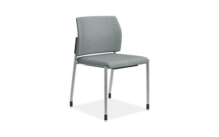 HON Accomodate Guest Chair Compass Tide Armless Front Side View HSGS6.N.E.COMP96.P6N