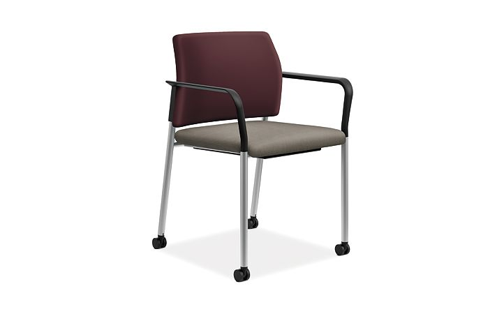 HON Accomodate Guest Chair Odyssey Eggplant Beeline Forge Fixed Arms Front Side View HSGS6DF.F.B.SMOMODY72.SMOMBEE54.P6N
