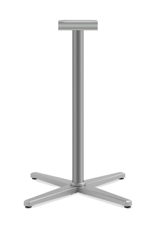 "HON Arrange Cafe Height X-base for 42-48"" Surfaces Platinum Color HCT42LX.P6N"