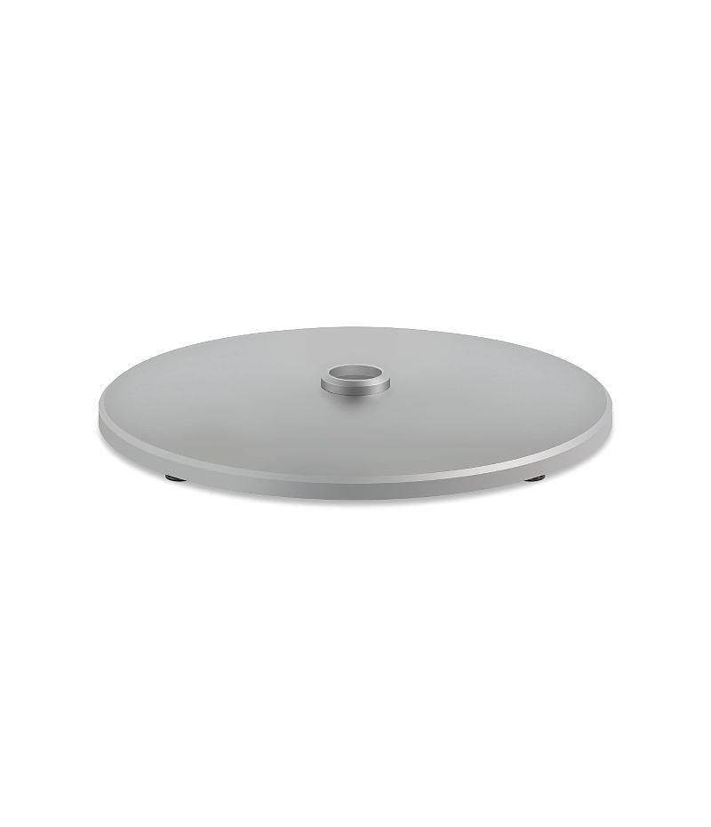 HON Arrange Cafe Table Bases - Disc Shroud Platinum Color HCTLDS.P6N