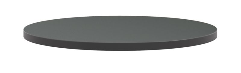 """HON Arrange Round Table top 30"""" Diameter Charcoal Side View HCTRND30.N.A9.S"""