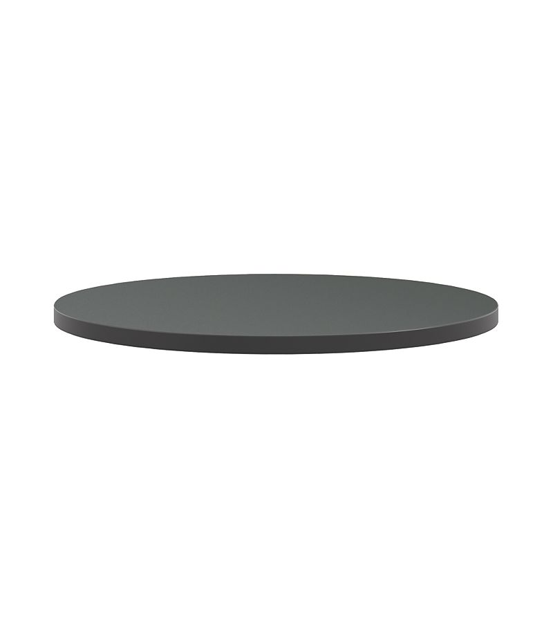 "HON Arrange Round Table top 30"" Diameter Charcoal Side View HCTRND30.N.A9.S"