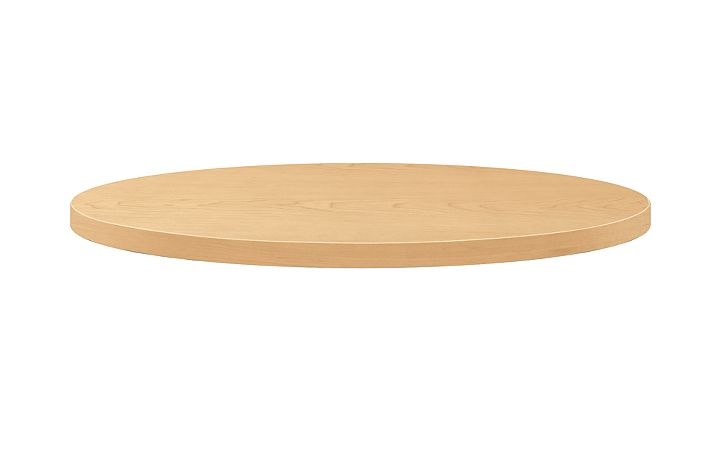 "HON Arrange Round Table top 30"" Diameter Natural Maple Side View HCTRND30.N.D.D"