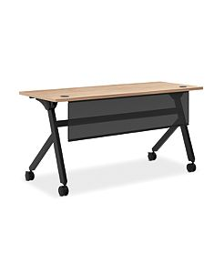 "Flip Base Table with Modesty Panel | 60""W x 24""D"