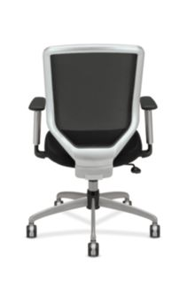 HON Boda Mesh Back Task Chair Black Sandwich Mesh Adjustable Arms Back View HMH01.MM10.C
