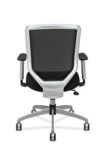 HON Boda Mesh Back Task Chair Black Sandwich Mesh Adjustable Arms Back View HMH01.MM10.C