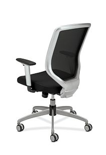 HON Boda Mesh Back Task Chair Black Sandwich Mesh Adjustable Arms Back Side View HMH01.MM10.C