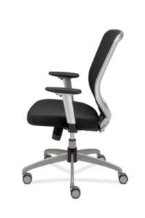 HON Boda Mesh Back Task Chair Black Sandwich Mesh Adjustable Arms Side View HMH01.MM10.C