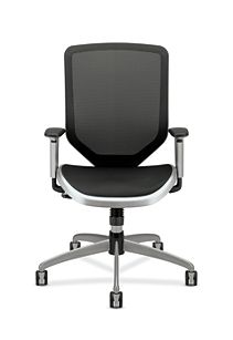 HON Broda Mesh Back and Seat Task Chair Black Mesh Front View HMH02.MST1.C