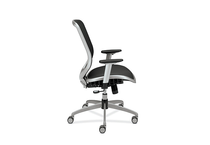 HON Broda Mesh Back and Seat Task Chair Black Mesh Side View HMH02.MST1.C