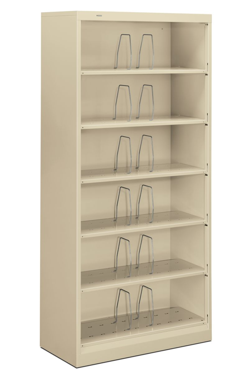 HON Brigade 600 Series 6-Shelf File Putty Front Side View H626CN.L