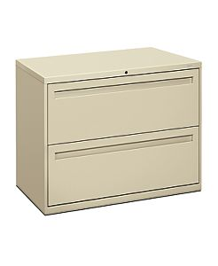 HON Brigade 700 Series 2-Drawer Lateral File Putty Front Side View H782.L.L