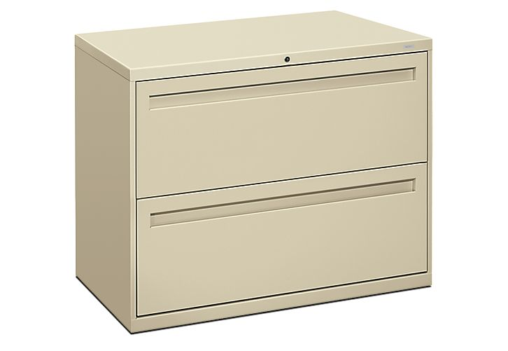 Hon Brigade 700 Series 2 Drawer Lateral File Putty Front Side View H782 L