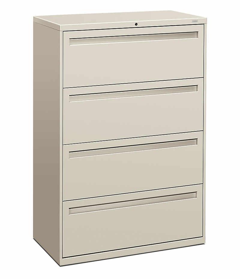 HON Brigade 700 Series 4-Drawer Lateral File White Front Side View H784.L.Q