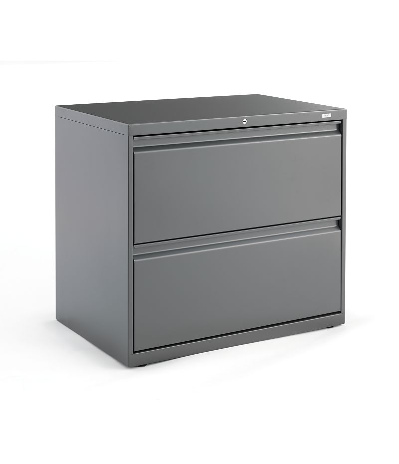 HON Brigade800Series 800 Series 2-Drawer Lateral File Charcoal Front Side View H872.L.S