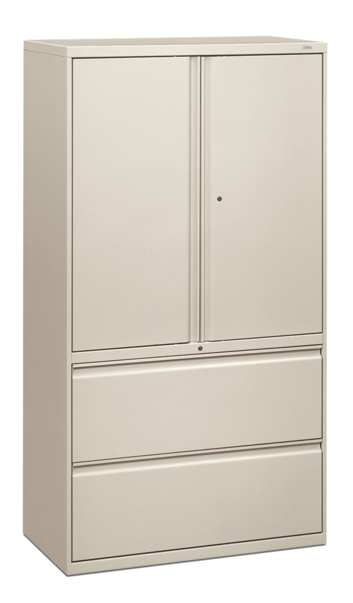 HON Brigade 800 Series 2-Drawer Lateral File White Front Side View H885LS.L.Q