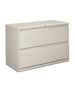 HON Brigade 800 Series 2-Drawer Lateral File Light Gray Front Side View H892.L.Q