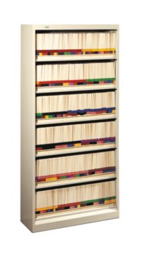 HON Brigade Bookcases 600 Series 6-Shelf File Putty Front Side View H626N.L.L