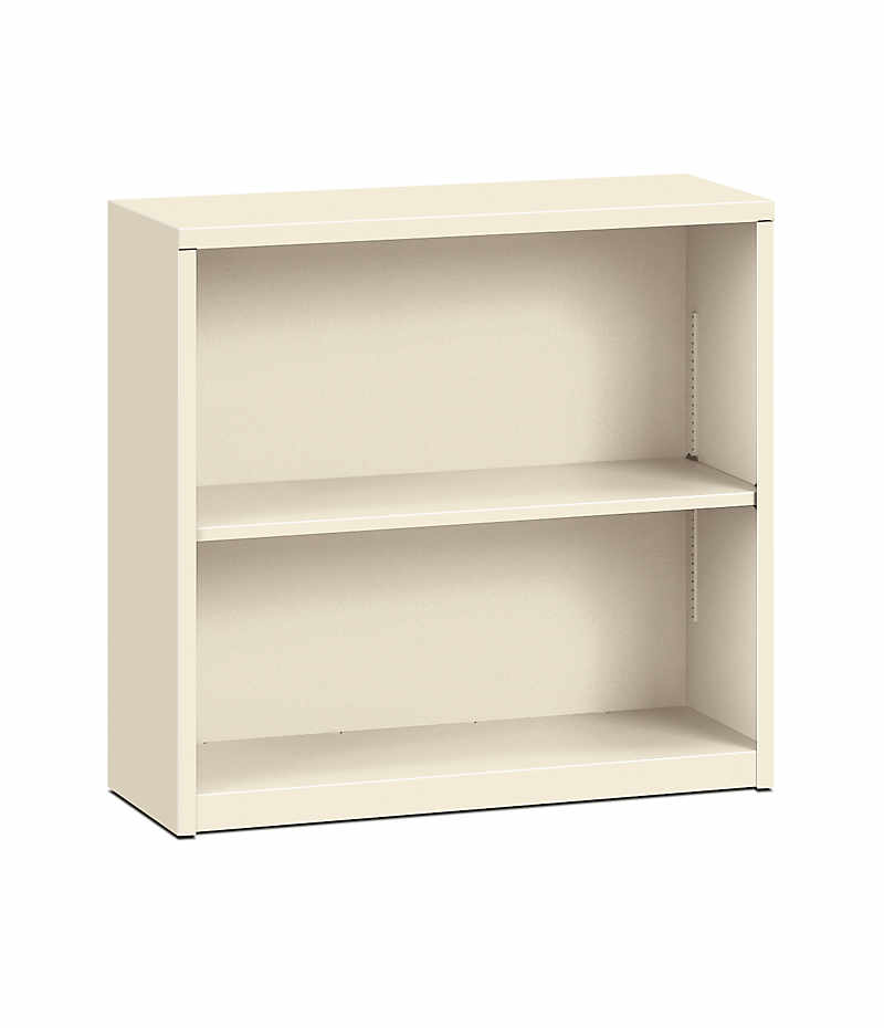 Hon Brigade 2 Shelf Bookcase Putty Front Side View Hs30abc L