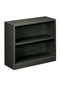 HON Brigade 2-Shelf Bookcase Charcoal Front Side View HS30ABC.S