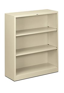 HON Brigade 3-Shelf Bookcase Putty Front Side View HS42ABC.L