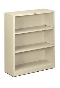 HON Brigade 3-Shelf Bookcase Putty Front Side View HS42ABC.L