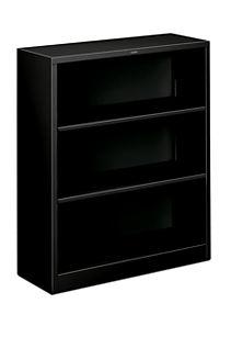 HON Brigade 3-Shelf Bookcase Black Front Side View HS42ABC.P