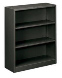 HON Brigade 3-Shelf Bookcase Charcoal Front Side View HS42ABC.S