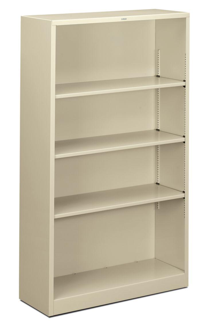 HON Brigade 4-Shelf Bookcase Putty Front Side View HS60ABC.L