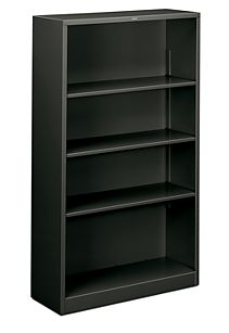 HON Brigade 4-Shelf Bookcase Charcoal Front Side View HS60ABC.S