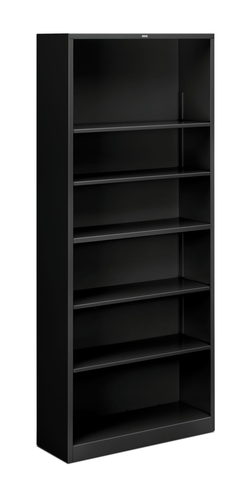 HON Brigade 6-Shelf Bookcase Black Front Side View HS82ABC.P