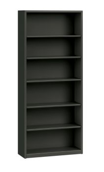 HON Brigade 6-Shelf Bookcase Charcoal Front Side View HS82ABC.S