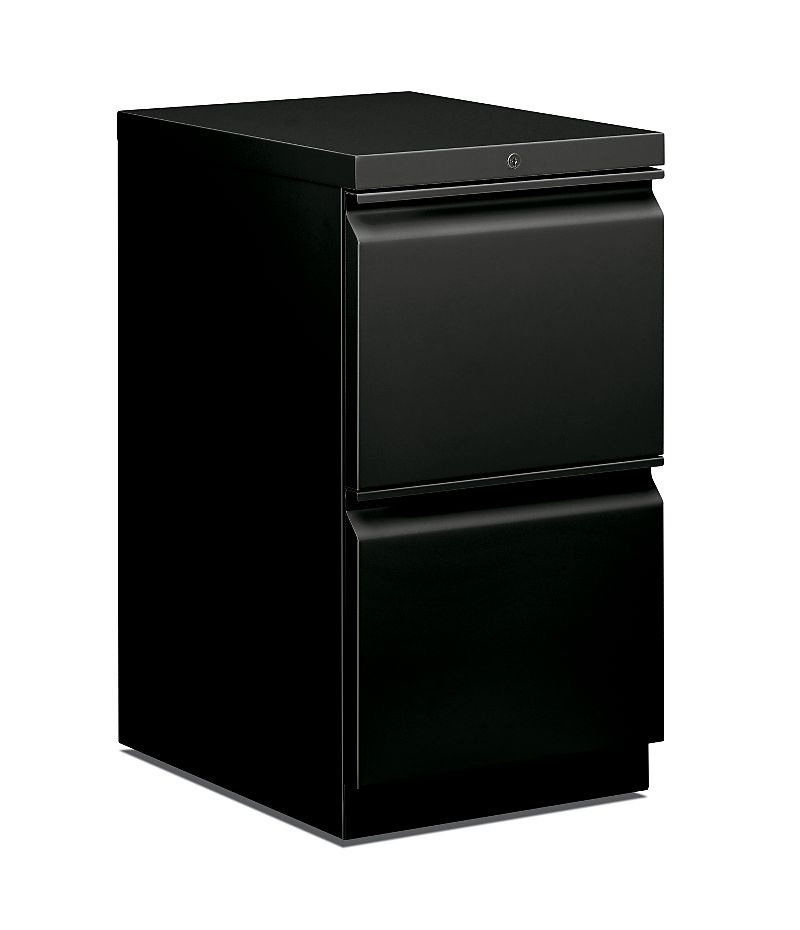 HON Brigade Mobile Pedestal Black Front Side View H33820R.L.P