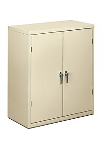 HON Brigade 2-Shelf Storage Cabinet Putty Front Side View HSC1842.L.L
