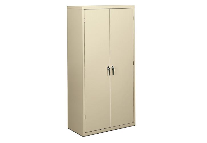 HON Brigade 5-Shelf Storage Cabinet Light Brown Front Side View HSC1872.L.L