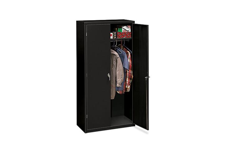 HON Brigade 5-Shelf Storage Cabinet Black Front Side View HSC1872.L.P