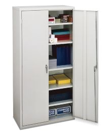 HON Brigade 5-Shelf Storage Cabinet White Front Side View HSC1872.L.Q