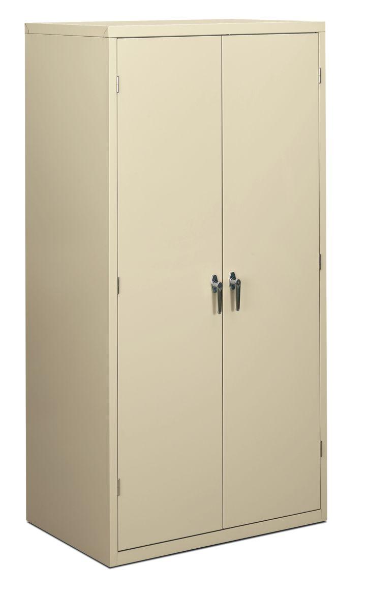 HON Brigade 5-Shelf Storage Cabinet Light Brown Front Side View HSC2472.L.L
