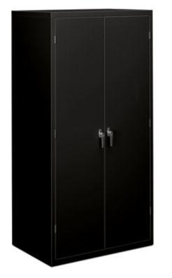 Hon Brigade 5 Shelf Storage Cabinet Black Front Side View Hsc2472 L P