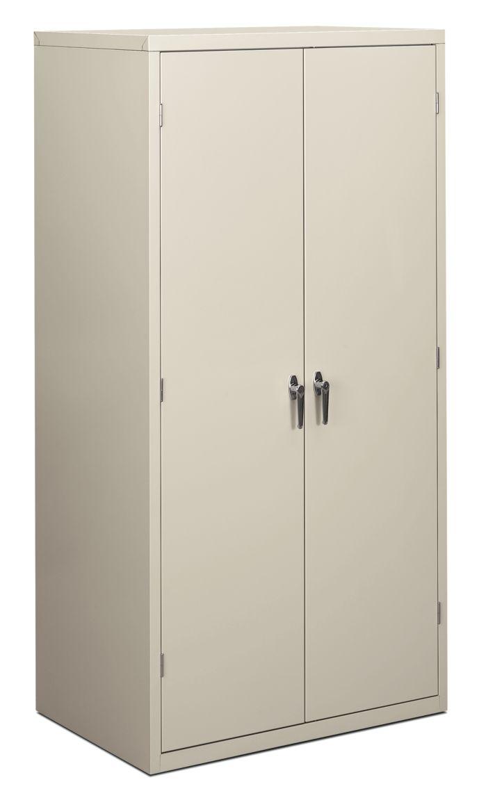 HON Brigade 5-Shelf Storage Cabinet White Front Side View HSC2472.L.Q