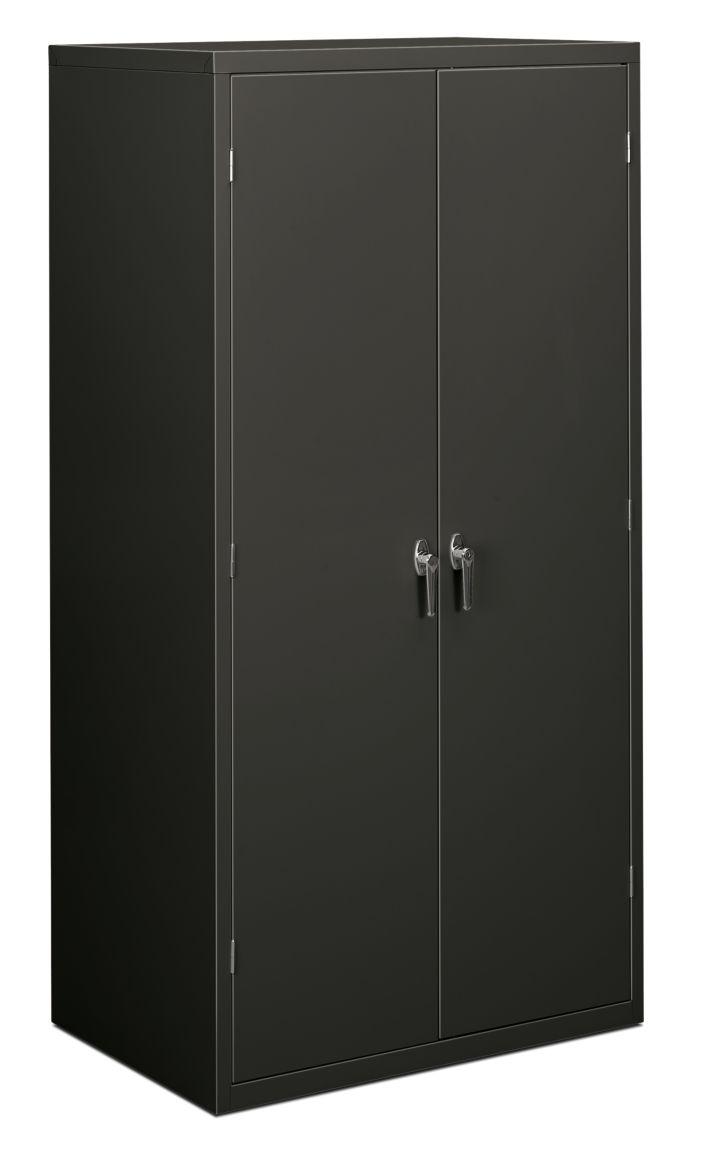 HON Brigade 5-Shelf Storage Cabinet Gray Front Side View HSC2472.L.S