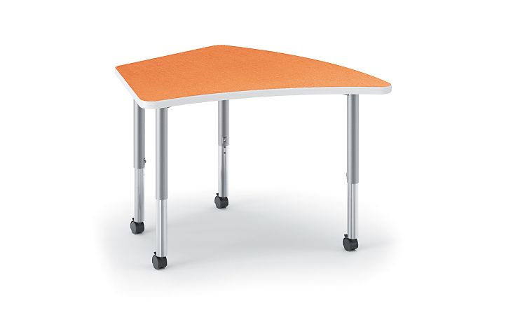 HON Build Kite-Shaped Table Tangerine HESA-2440E-4L.N.LTG1.K.T1