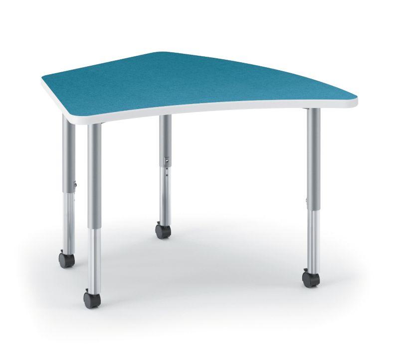 HON Build Kite-Shaped Table Blue Agave HETR-3072E-4L.N.LBA1.K.T1