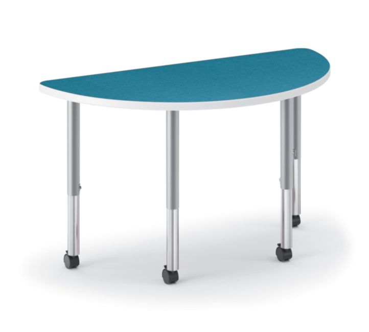 HON Build Half Round Table Patterned Blue Agave Color HESH-3060E-4L.N.LBA1.K.T1